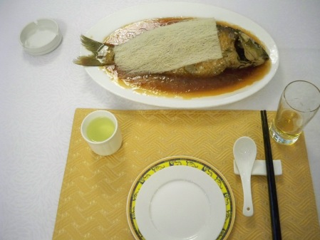 Sweet & sour carp with noodles