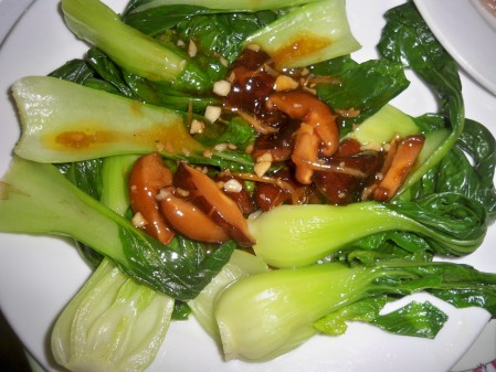 Pak Choi and Shitake with Oyster Sauce
