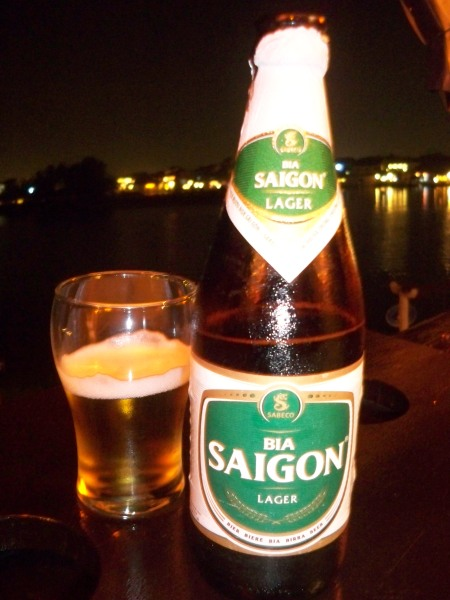Saigon beer with a view