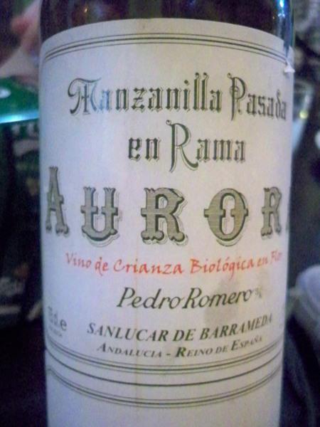Manzanilla Pasada sherry