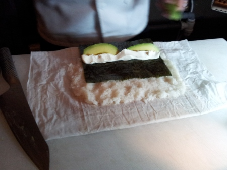 Maki with advocado and cream cheese